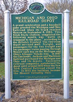 Moscow MI Historical Marker